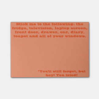 You'll Forget Anyway Post-it Notes