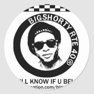 """YOU'LL KNOW IF YOU BELONG!"" CLASSIC ROUND STICKER"