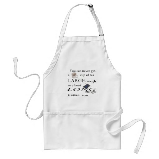 You'll never find a cup of tea apron
