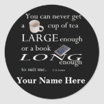 You'll never find a cup of tea Bookplates Stickers