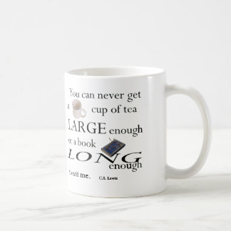 You'll never find a cup of tea classic white coffee mug