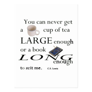 You'll never find a cup of tea postcard