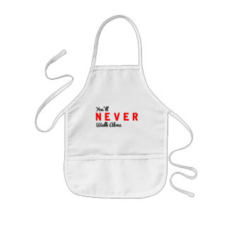 you'll never walk alone kids' apron