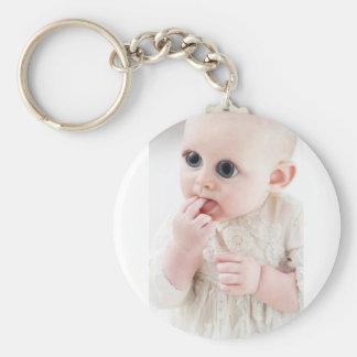 YouMa Alien Baby 1 Basic Round Button Keychain