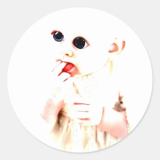 YouMa Alien Baby 2 Classic Round Sticker