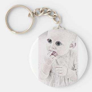 YouMa Alien Baby 3 Basic Round Button Keychain