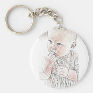 YouMa Baby 2 Basic Round Button Keychain