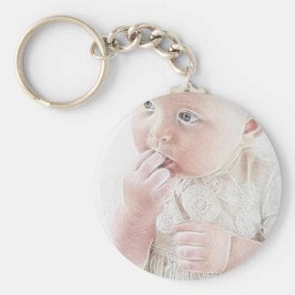 YouMa Baby 3 Basic Round Button Keychain