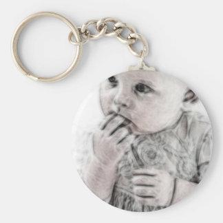 YouMa Baby 5 Basic Round Button Keychain