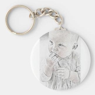 YouMa Baby 8 Basic Round Button Keychain
