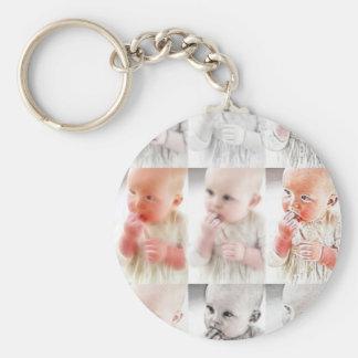 YouMa Baby Montage 1 Basic Round Button Keychain
