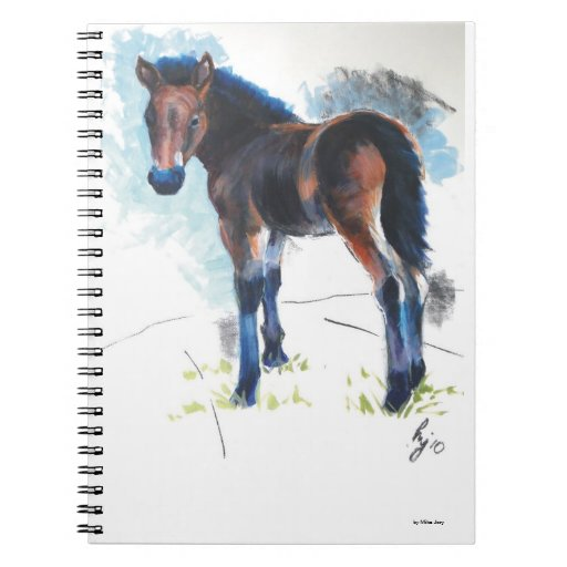 Yound foal painting note book