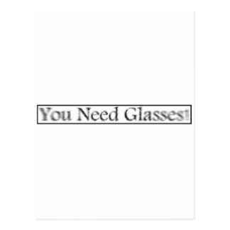 youneedglasses postcard