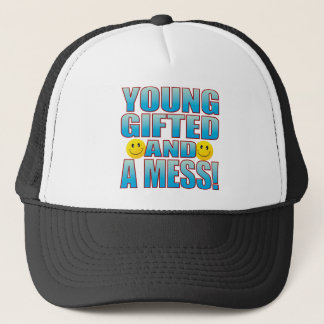 Young A Mess Life B Trucker Hat