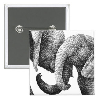 Young African Elephants Button