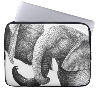 Young African Elephants Electronics Bag