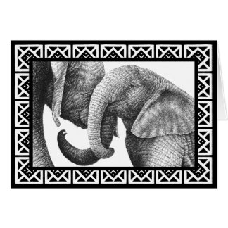 Young African Elephants Greeting Card