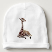 Young African Giraffe Baby Hat