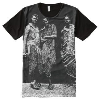 Young African Men All-Over Print Shirt