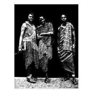 Young African Men Postcard