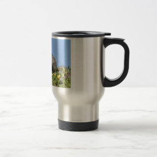 Young Alpine marmot 15 Oz Stainless Steel Travel Mug