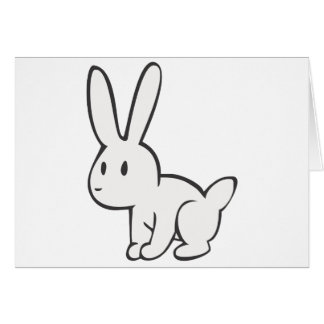 Young and Cute White Rabbit Card
