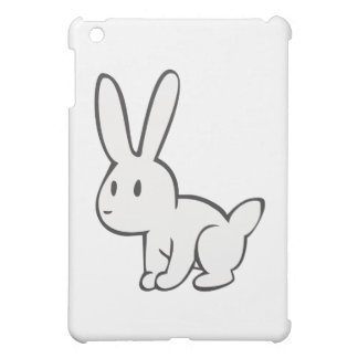 Young and Cute White Rabbit iPad Mini Cover