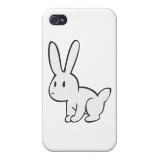 Young and Cute White Rabbit Cases For iPhone 4