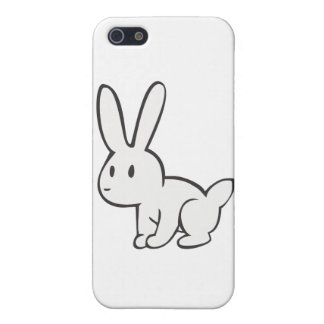 Young and Cute White Rabbit Cover For iPhone 5