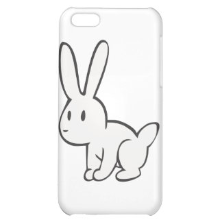 Young and Cute White Rabbit iPhone 5C Cases