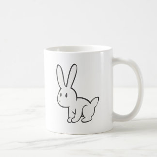 Young and Cute White Rabbit Classic White Coffee Mug