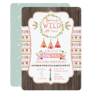 Young and Wild Girl Birthday Party Invitations