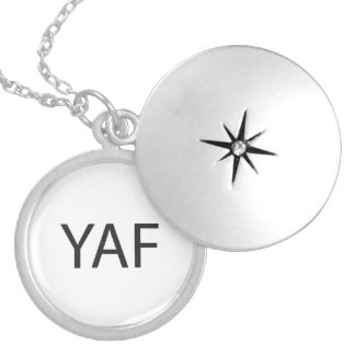 Young Angry Female.ai Round Locket Necklace