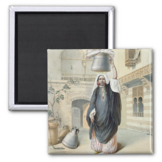 Young Arab Girl Returning from the Hammam in Cairo Refrigerator Magnets