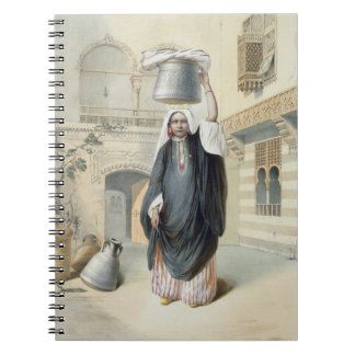 Young Arab Girl Returning from the Hammam in Cairo Notebook