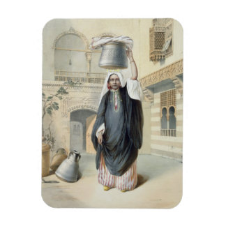 Young Arab Girl Returning from the Hammam in Cairo Vinyl Magnets