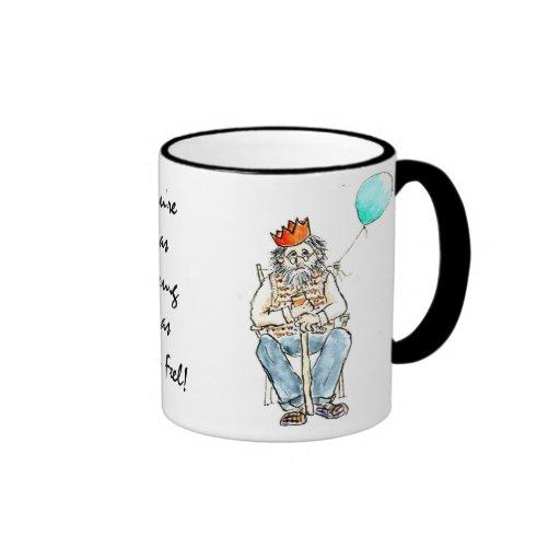 'Young as You Feel' Large Mug