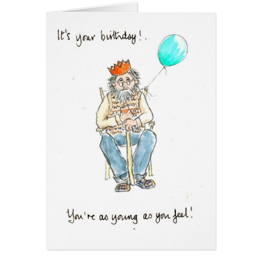 'Young At Heart' Birthday Card