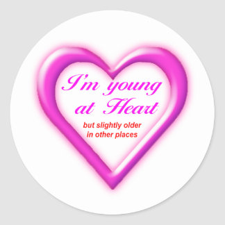 Young at Heart Classic Round Sticker