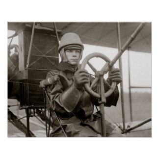 Young Aviator, 1912. Vintage Photo Poster