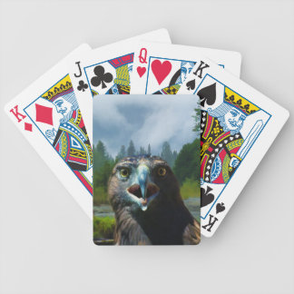 Young Bald Eagle and Misty Alaskan River Bicycle Playing Cards