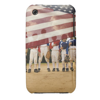 Young baseball players partially hidden by iPhone 3 Case-Mate case