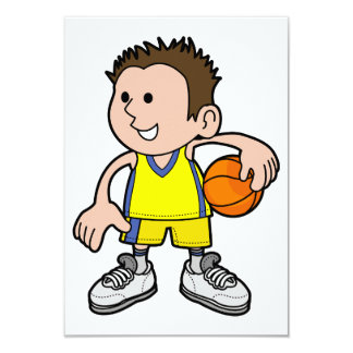 Young Basketball Player Invitations