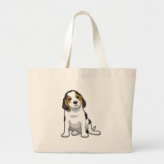 Young Beagle Puppy Jumbo Tote Bag