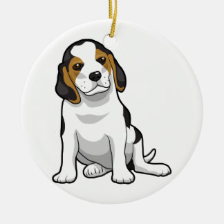 Young Beagle Puppy Christmas Ornaments