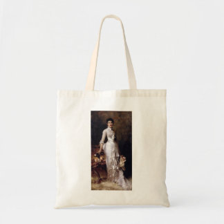 Young Beauty In A White Dress by Julius Stewart Tote Bag