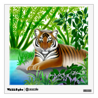 Young Bengal Tiger at Rest Wall Decal