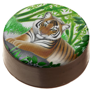Young Bengal Tiger in Bamboo Jungle Oreo Cookies