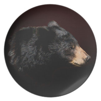 Young Black Bear Art Wildlife Nature-lover's Plate
