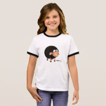 Young Black t-shirt to ringer